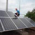 Photovoltaikanlage auf dem Trinkwasser-Hochbehälter Kommlingen