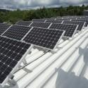Photovoltaikanlage auf dem Klärwerk Saarmündung in Konz